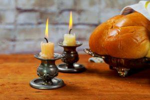 Shabbat Shalom - Traditional Jewish ritual challah bread