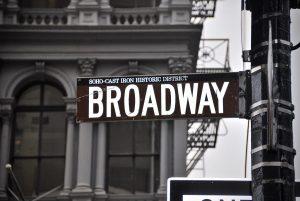 Broadway street sign in New York City
